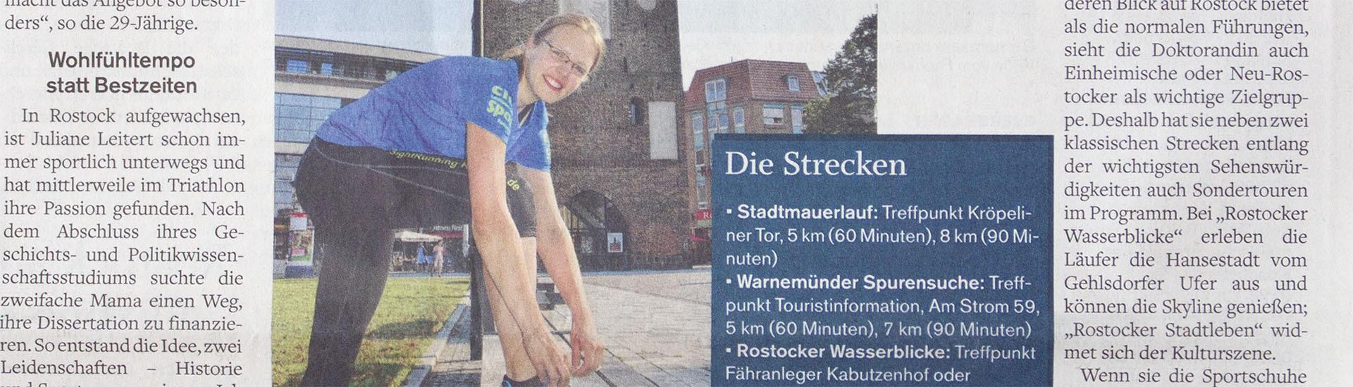 Stadtführung anders - SightRunning Rostock - NNN Artikel