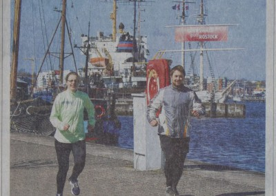 SightRunning Rostock - Stadtführung anders - NNN Artikel - Ankündigung Titelseite